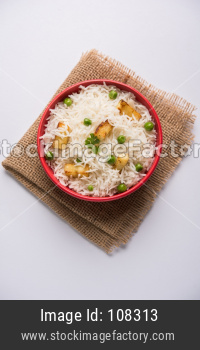 Paneer and Green Peas Pulav