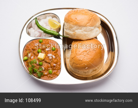 Pav Bhaji is a fast food dish from India