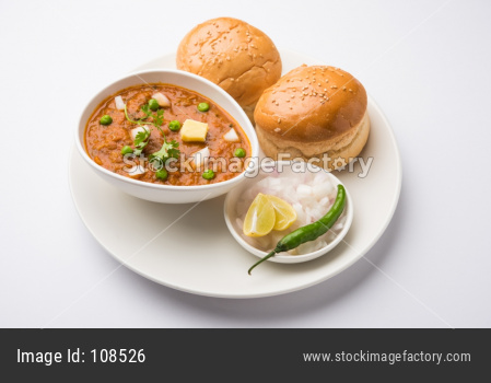 Mumbai Style Pav bhaji is a fast food dish from India