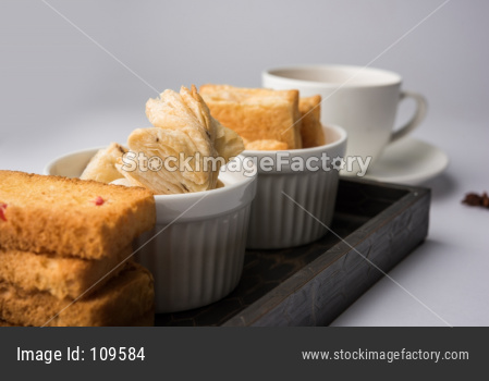 kharee OR salty Puff Pastry Snacks with tutti frutti toast