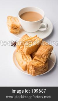 Khari / kharee / salty Puff Pastry Snacks