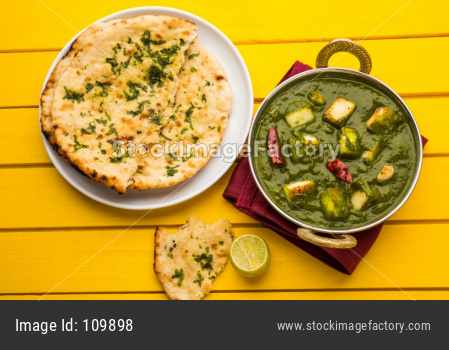 Palak Paneer  OR spinach and cottage cheese Curry