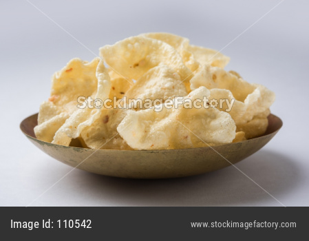 fried Papad or Papadum