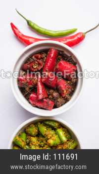Red or Green Chilli/Mirchi Pickle or Achar