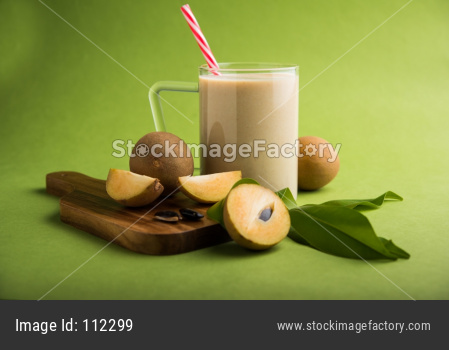 Chickoo,/Chikoo OR Sapota Milkshake