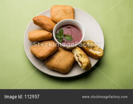Paneer pakoras or Bhajji