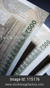 Indian Rupees Notes closeup