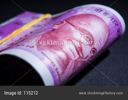 Indian Rupees Roll or Bundle