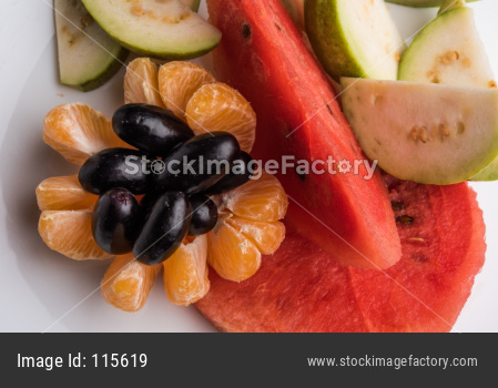 fruit salad or cut fruits