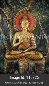 Gautam Buddha Sculpture in golden colour