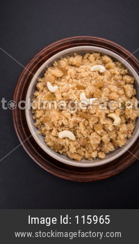Sheera or Suji/Sooji Halwa