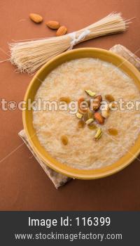 Khir or kheer payasam also known as Sheer Khurma Seviyan