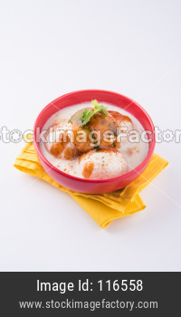 Dahi Vada or Dahi Bhalla also known as Curd Vadai