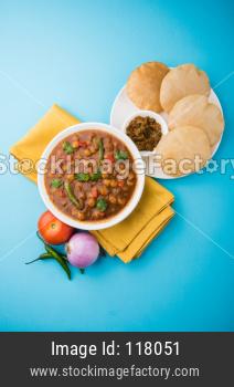 Chole or Choley Puri or Chana Masala