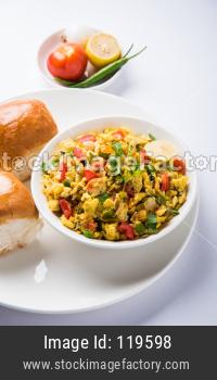 Masala Anda Bhurji with Pav/Bread
