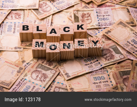 Indian Black Money concept