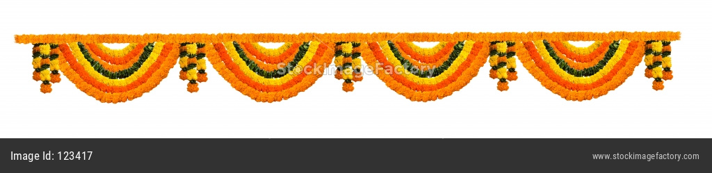 Garland OR Toran using Marigold flowers for door or entrance
