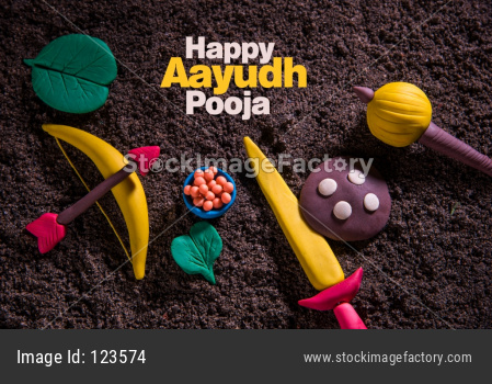 Happy Dussehra Festival / Ayudh Puja greeting Card