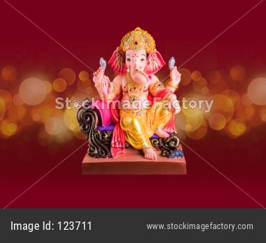 Lord Ganesha Idol, isolated