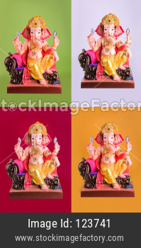 Lord Ganesha Idol, isolated