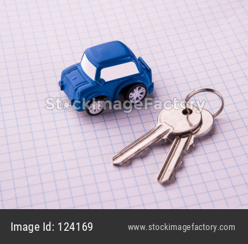 Toy car with keys