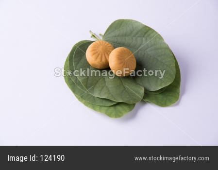 Dussehra Festival with Sweet Pedha/Pera and Apta Leaf
