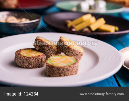 fig or anjeer burfi, selective focus