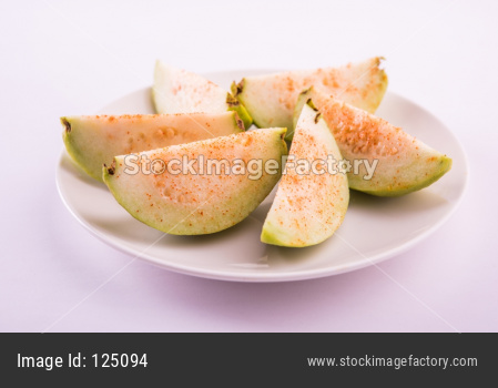 Fresh green Guava fruit / Amrood / Jaam / Peru