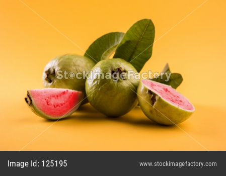 Guava OR Peru fruit red inside