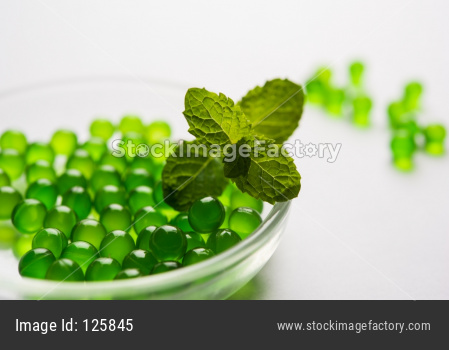 Pudina/mint leaves and pills