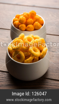 Puff cheese balls and rings