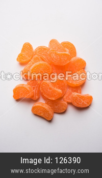 Indian Orange flavoured sweet candy or chocolate