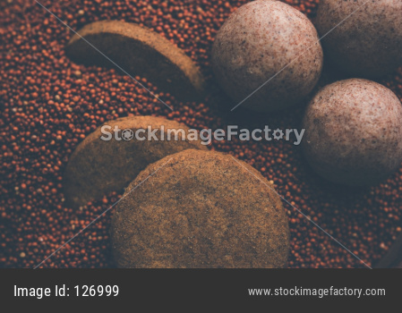 Ragi or Nachni laddu and biscuits or cookies
