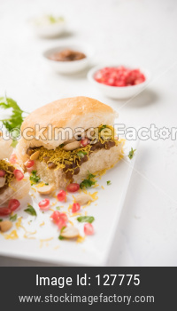 Dabeli road side snack from Gujrat, India