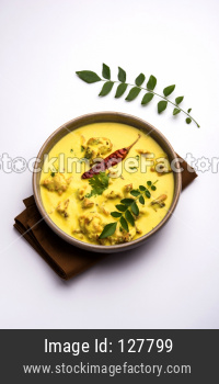 Kadhi Pakoda or pakora, Indian cuisine, selective focus