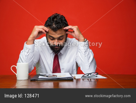 Frustrated Indian Businessman
