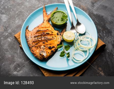 Tandoori Pomfret fish or butter fish