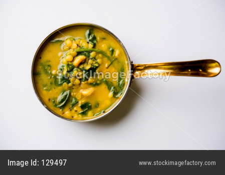 palak dal /dal palak or Lentil spinach curry