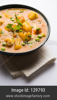Aloo Mutter curry / Potato Green peas masala