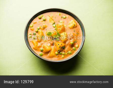 Aloo Mutter curry / Potato Green peas masala