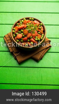 Carrot green peas sabzi / Gajar Mutter sabji