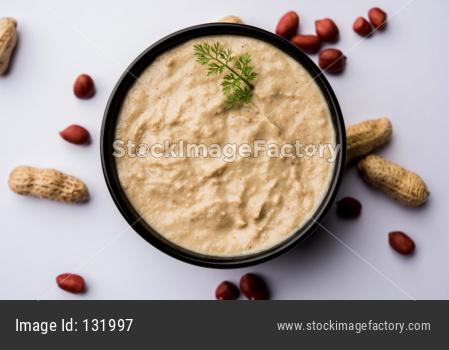 Peanut chutney / mungfalli chutney