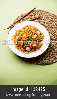 Schezwan Paneer hakka noodles