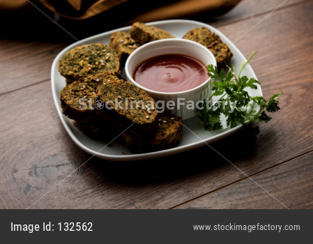 Cilantro cake or Kothimbir Vadi is a popular maharashtrian cuisine