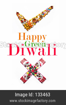 Green diwali greeting card