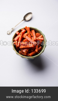 Carrot Pickle / Gajar ka Achar or loncha