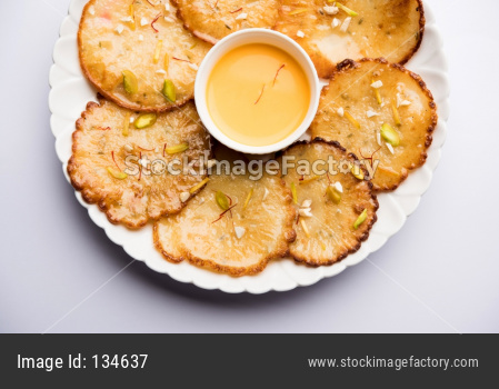 Malpua is a sweet pancake from India
