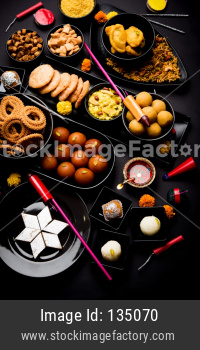 Diwali Sweets and fire crackers
