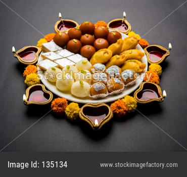 Diwali Sweets and diya