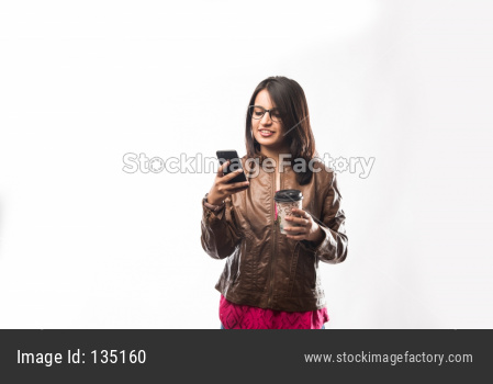 Indian girl drinking Coffee